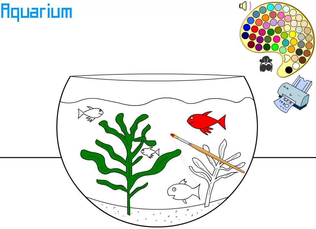 Akvariumas su žuvytėmis