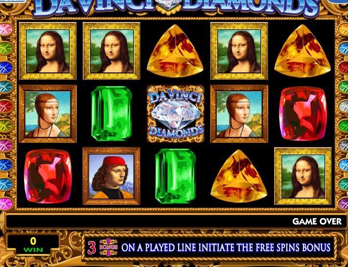 Davinčio deimantai, lošimų automatas