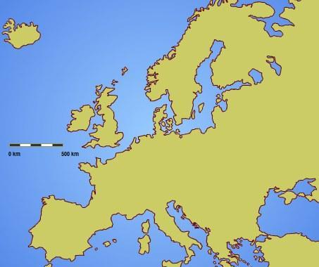 Europos šalių žemėlapis