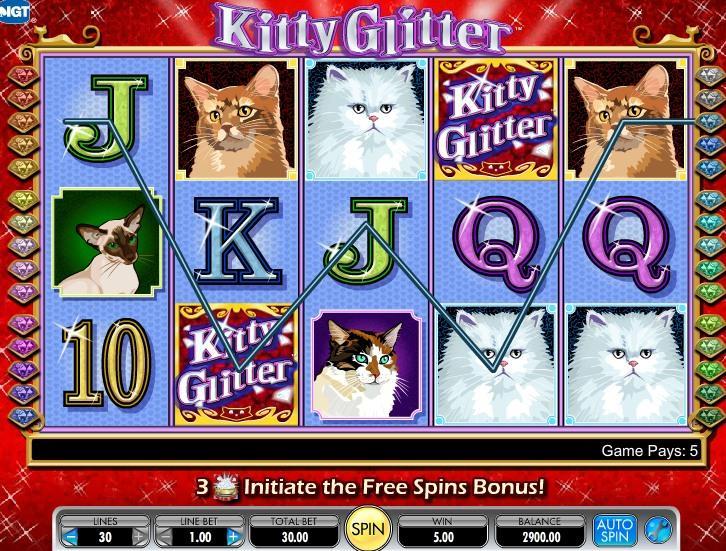 Gražios katės, lošimų automatas