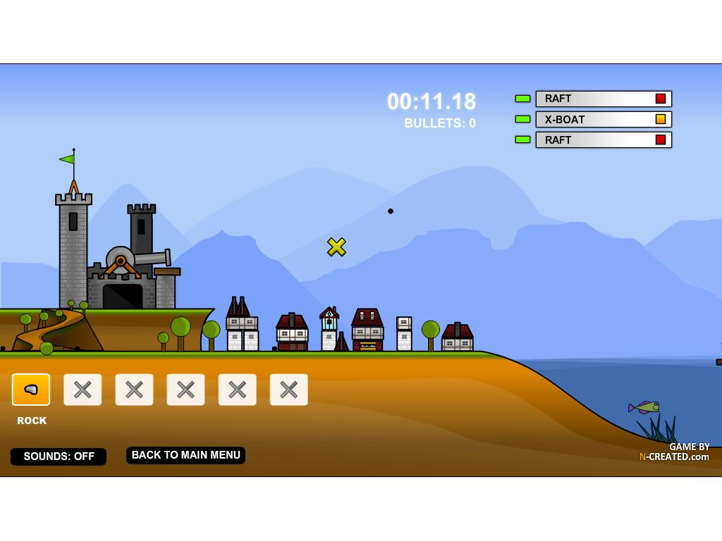 Laivai puola pilį