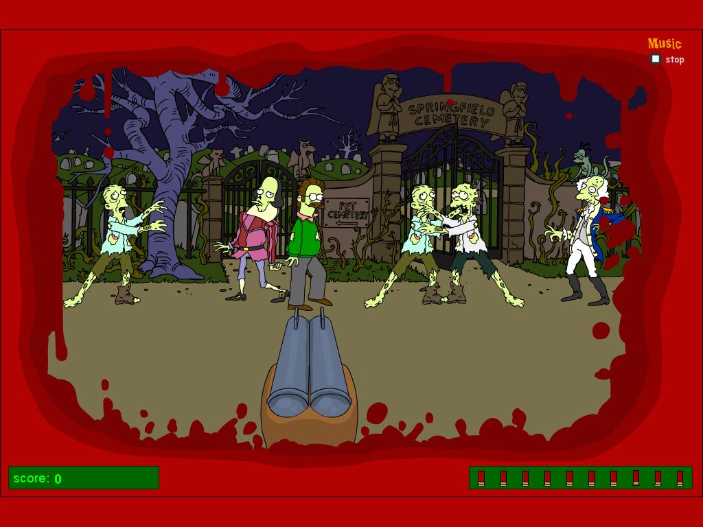 Nušauk Simpsonų zombius