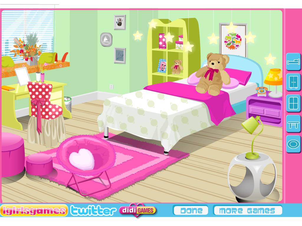 Papuošk mergaitės kambarį