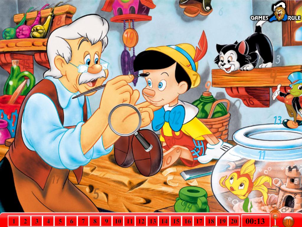 Pinokis ir paslėpti skaičiai