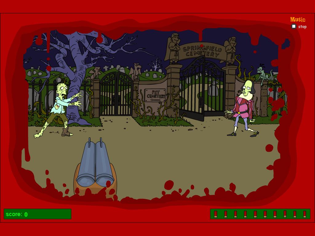 Simpsonai šaudo zombius Springfylde