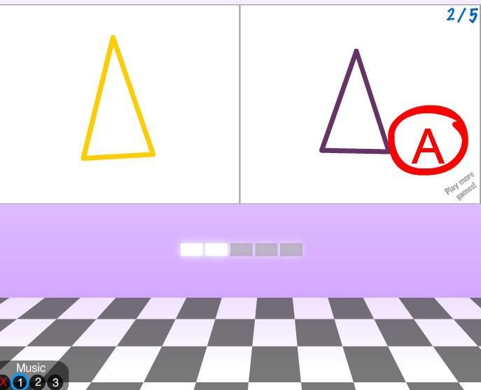 Geometrinių figūrų atminties žaidimas
