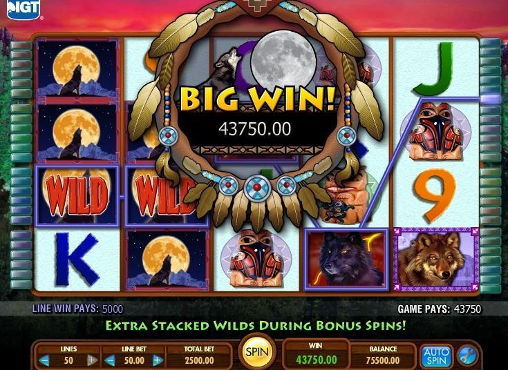 Laukiniai vilkai - kazino lošimų automatas