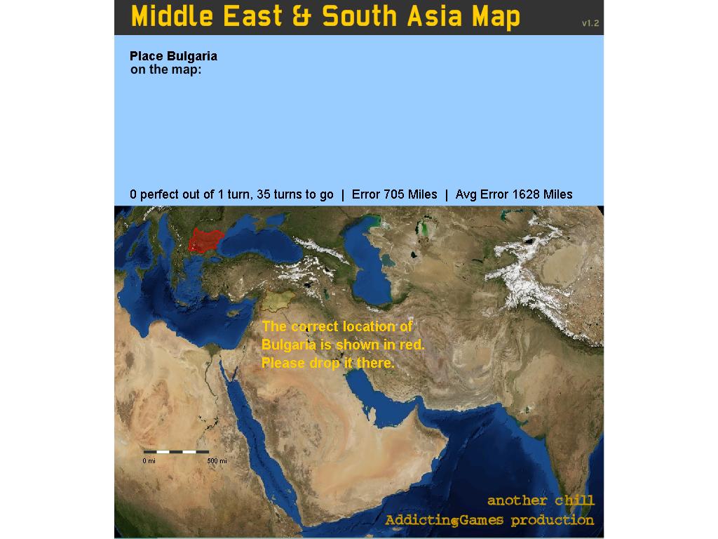 Vidurio rytų ir Azijos žemėlapis